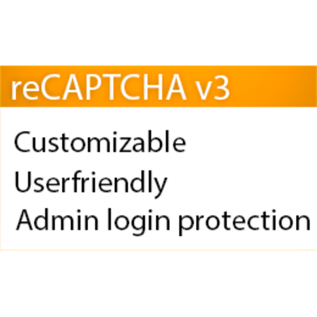 Google reCAPTCHA v3 + Admin protection